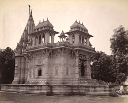 General view of a cenotaph of the Scindia family, Lashkar, Gwalior.